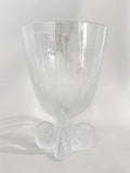 Vintage Lalique Clear Crystal Fern Shell Motif Ormonde Footed Vase Side 5