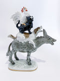 Bremen Town Musicians Porcelain Figurine Hutschenruether Sculpture, German Side