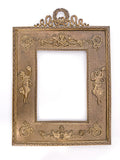 Antique Empire Style Gilt Metal Picture Frame with Applied Decoration Front 2