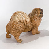 Vintage 1935 Pekingese Dog Figure Martens Studio Ceramic Sculpture Side 8