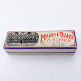 Vintage 1969 Marine Band M. Horner Harmonica C Key Musical Instrument Top Box