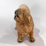 Vintage 1935 Pekingese Dog Figure Martens Studio Ceramic Sculpture Side 3