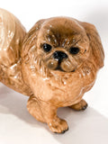Vintage 1935 Pekingese Dog Figure Martens Studio Ceramic Sculpture Close Up Head 2