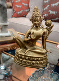 20th Century Brass Statuette Of Shiva Hindu God | Art Decor Statue