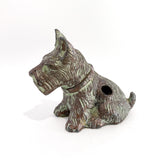 Vintage Cast Metal Seated Scottish Terrier Pen Holder Dog Figurine Profile 2