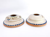 20th Century Antique Bonito Hand Painted Weller Ceramic Candlesticks Front
