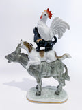 Bremen Town Musicians Porcelain Figurine Hutschenruether Sculpture, German Side 2