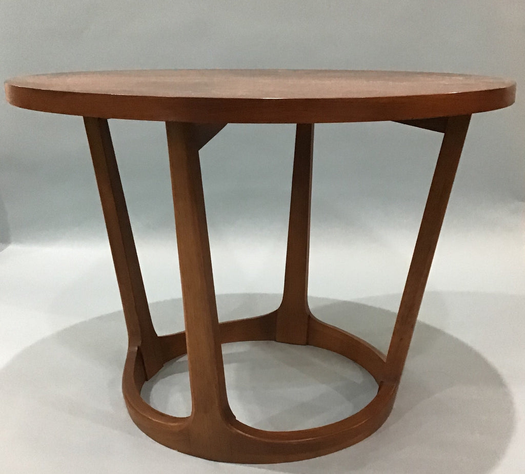 A Mid-Century Modern Walnut Drum End Table, Rhythm Collection by Lane #997-22