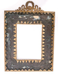 Antique Empire Style Gilt Metal Picture Frame with Applied Decoration Back