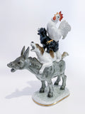 Bremen Town Musicians Porcelain Figurine Hutschenruether Sculpture, German Side Slightly Angled