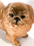 Vintage 1935 Pekingese Dog Figure Martens Studio Ceramic Sculpture Clos Up Head 1