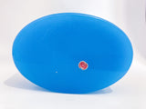 Vintage Italian Murano Turquoise Blue Opaline Glass Oval Trinket Box, 1960 Bottom