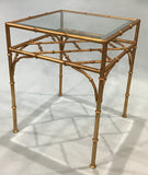 A Gilt Bamboo Accent Square Table, New