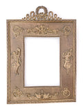 Antique Empire Style Gilt Metal Picture Frame with Applied Decoration Front