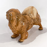 Vintage 1935 Pekingese Dog Figure Martens Studio Ceramic Sculpture Side 4