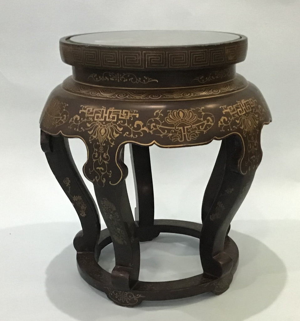 A Black Lacquer Side Table, Chinese 20th Century