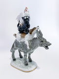 Bremen Town Musicians Porcelain Figurine Hutschenruether Sculpture, German Slightly Angled