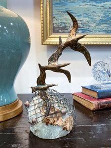 Birds in Flight Sea Sculpture by Artist Curtis Jere Artisan House 1970's