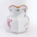 19th Century Antique Wedgwood Flowers Birds English Porcelain Pitcher Front