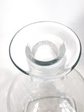 Antique Hand Blown Large Clear Glass Round Topper Decanter Barware Inside Rim
