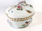 Vintage Herend Rothschild Style Floral Branch Bird Heart Shaped Porcelain Box Side 4