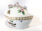 Vintage Herend Rothschild Style Floral Branch Bird Heart Shaped Porcelain Box Side 6