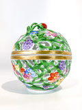 Herend Hand Painted Openwork Sphere Strawberry Vine Porcelain Box Side 6