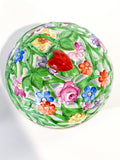 Herend Hand Painted Openwork Sphere Strawberry Vine Porcelain Box Top 2