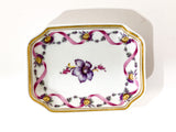 Vintage Richard Ginori Floral Purple Gold Small Porcelain Italian Dish Top