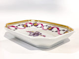 Vintage Richard Ginori Floral Purple Gold Small Porcelain Italian Dish Side 3