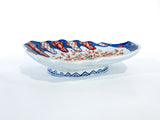 Antique Imari Floral Motif Shell Shaped Japanese Porcelain Dish Tray Side 2