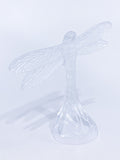 Lalique Clear Crystal Flying Dragonfly Sculpture France 21st Century Side 1
