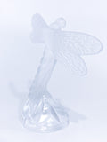 Lalique Clear Crystal Flying Dragonfly Sculpture France 21st Century Back Side 1