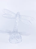 Lalique Clear Crystal Flying Dragonfly Sculpture France 21st Century Back