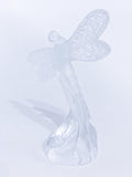 Lalique Clear Crystal Flying Dragonfly Sculpture France 21st Century Side 2