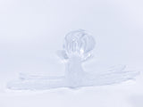 Lalique Clear Crystal Flying Dragonfly Sculpture France 21st Century Top