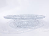 Vintage Marked Waterford Bethany Round Cut Crystal Candle Holder Dish Side View
