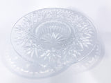 Vintage Marked Waterford Bethany Round Cut Crystal Candle Holder Dish Slightly Above