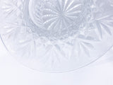 Vintage Marked Waterford Bethany Round Cut Crystal Candle Holder Dish Close Up Pattern