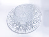 Vintage Marked Waterford Bethany Round Cut Crystal Candle Holder Dish Underside