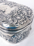 Antique Gorham Spaulding & Co Sterling Silver Repousse Vanity Box