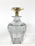 Antique 14K Yellow Gold Stopper Cut Glass Scent Bottle American Decanter Side 1