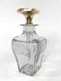 Antique 14K Yellow Gold Stopper Cut Glass Scent Bottle American Decanter Side 3