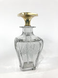 Antique 14K Yellow Gold Stopper Cut Glass Scent Bottle American Decanter Side 4