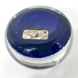 Vintage Blue Millefiori Perthshire Scotland Large Glass Paperweight Bottom