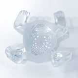Lalique Clear Frosted Clear Crystal Glass Gregoire Toad Frog Sculpture Bottom