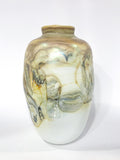Hand Blown Iridescent Yellow Glass Vase by Cleveland Ohio Artist Drew Smith Circa 1977 Side 3