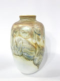 Hand Blown Iridescent Yellow Glass Vase by Cleveland Ohio Artist Drew Smith Circa 1977 Side 4