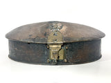 Antique Anglo Indian Rustic Domed Oval Wood Spice Box Circa 1900 Front
