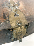 Antique Anglo Indian Rustic Domed Oval Wood Spice Box Circa 1900 Close Up Latch